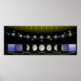 La luna organiza el poster