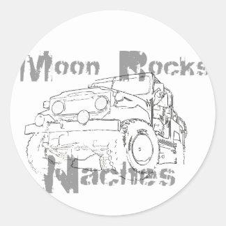 La luna oscila Naches Pegatina Redonda