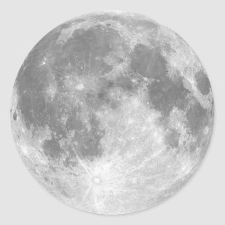 La luna etiqueta redonda