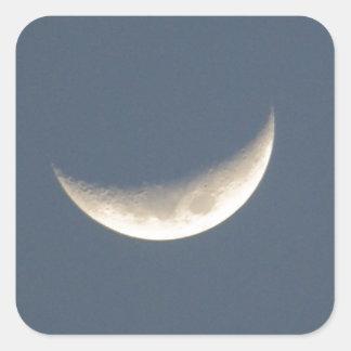 La luna pegatina cuadrada