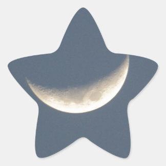 La luna pegatina en forma de estrella