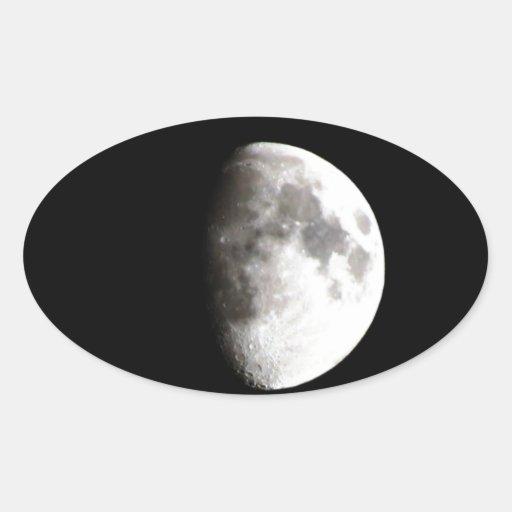 La luna pegatina ovalada