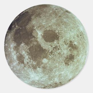 La luna pegatina redonda