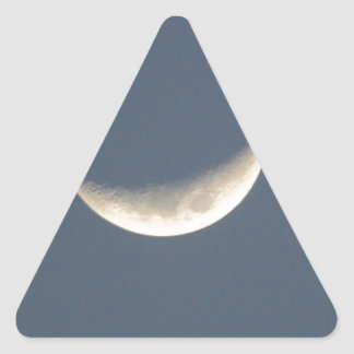 La luna pegatina triangular