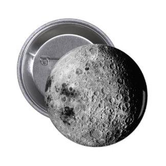 La luna pin redondo de 2 pulgadas
