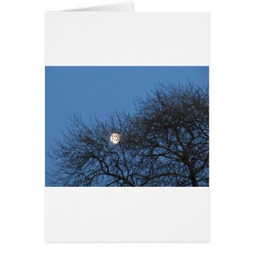 La luna tarjeta de felicitación