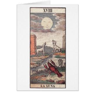 La luna tarot card