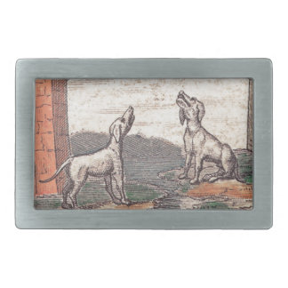 La luna tarot card rectangular belt buckle