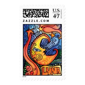 La Luna / The Moon Loteria Postage