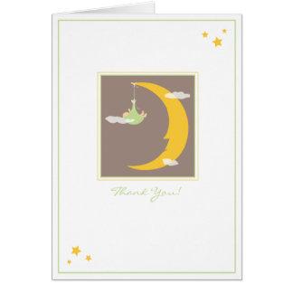 La luna y las estrellas le agradecen cardar tarjeta pequeña