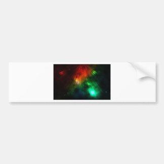 La luz abstracta brilla abajo desde arriba pegatina para auto