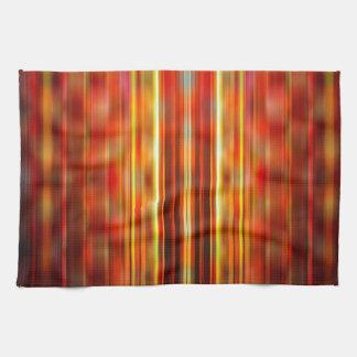 La luz ámbar raya el modelo toallas de cocina