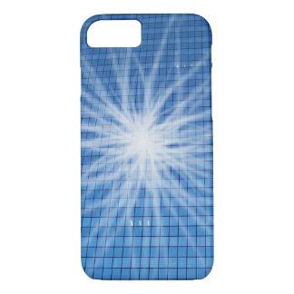 La luz blanca estalló el rascacielos azul funda iPhone 7