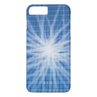 La luz blanca estalló el rascacielos azul funda iPhone 7 plus