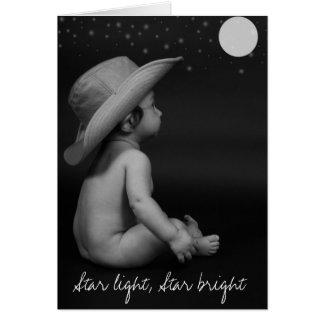 La luz de la estrella, protagoniza brillante tarjeta de felicitación