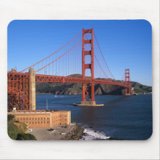 La luz de la mañana baña puente Golden Gate Alfombrilla De Ratón