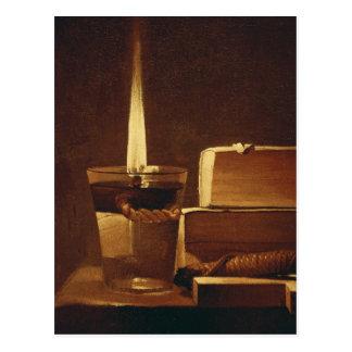La luz de la noche, 1630-35 postal