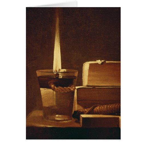 La luz de la noche, 1630-35 tarjetas