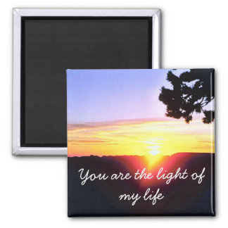 La luz de mi vida imán cuadrado