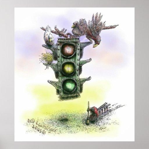 La luz de parada - color - poster