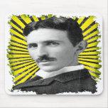 La luz de Tesla Tapetes De Ratón