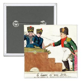 La luz del siglo XIX, 1815 Pin Cuadrada 5 Cm