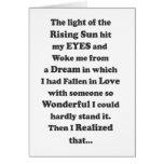 La luz del sol naciente - tarjeta