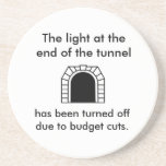 La luz del túnel - refrán divertido posavaso para bebida