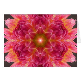 La luz dentro de la mandala tarjeta de felicitación