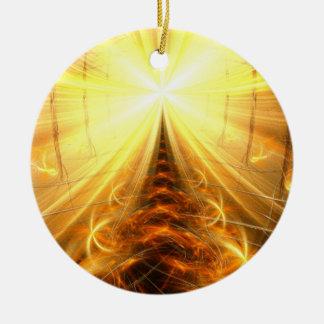 La luz en el extremo del túnel adorno redondo de cerámica