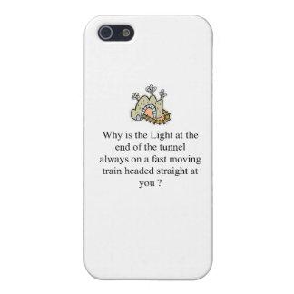 La luz en el extremo del túnel iPhone 5 protector