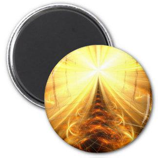 La luz en el extremo del túnel imán redondo 5 cm