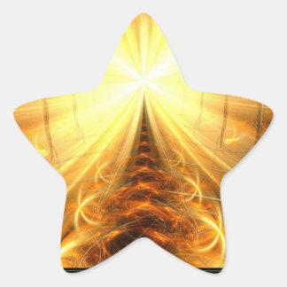 La luz en el extremo del túnel pegatina en forma de estrella