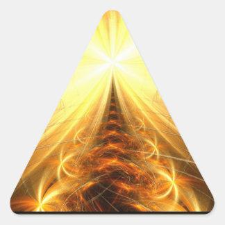 La luz en el extremo del túnel pegatina triangular
