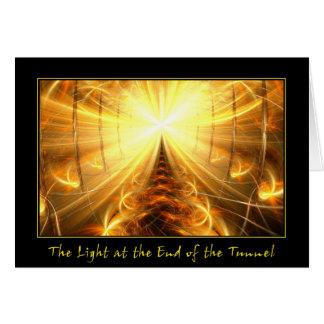 La luz en el extremo del túnel tarjeta de felicitación