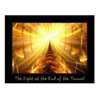 La luz en el extremo del túnel postales