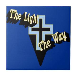 La luz la teja de la manera