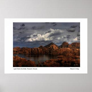 La luz pinta los Dells Prescott Arizona