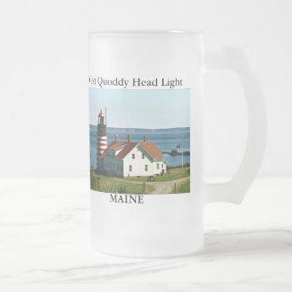 La luz principal del oeste de Quoddy Maine heló Taza De Café