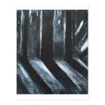 La luz que se escapa negra (simbolismo ligero) postal