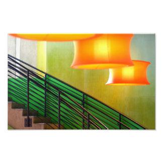 La luz sobre las escaleras fotografía