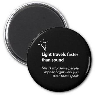 La luz viaja más rápidamente que el imán de los so