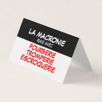 La Macronie Fourberie Tromperie Escroquerie carte Business Card