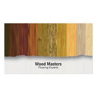 La madera artesona la tarjeta de visita adaptable