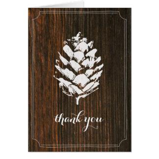 La madera del granero de Pinecone le agradece Tarjeta Pequeña