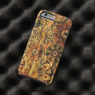 la madera del vintage florece arte del vector funda de iPhone 6 tough