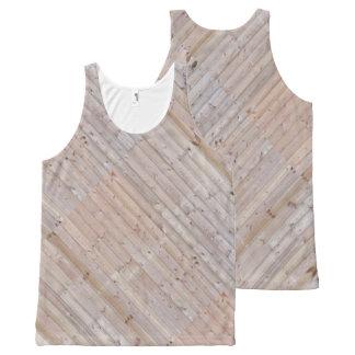 La madera diagonal estrecha rústica pela efecto de