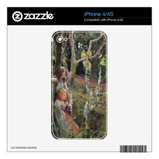 La madera encantada (aceite en lona) iPhone 4S skin