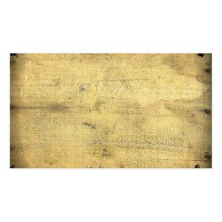 La madera envejecida vintage en blanco de moda tarjetas de visita