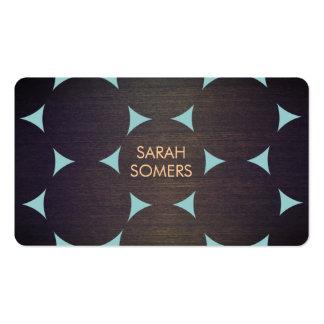 La madera fresca moderna elegante circunda el azul plantillas de tarjetas personales